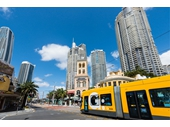 43 - Tram passing through Surfers Paradise