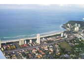 2010's Aerial view over Burleigh Heads