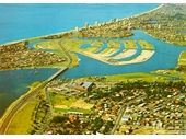 1970's Aerial view of Southport and Surfers Paradise