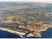 1970's Aerial view of Tweed Valley and Coolangatta