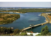 1970's Tweed Heads bridge from Razorback