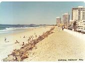 1974 View of Surfers Paradise beach