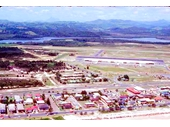 1980's Aerial view of Coolangatta airport