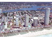 1980's Aerial view of Surfers