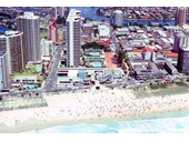 1980's Aerial view of Surfers 2