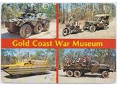 1980's Gold Coast War Museum postcard