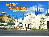 1980's Magic Mountain postcard 1