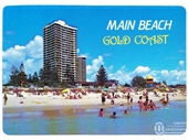 1980's Main Beach postcard