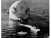 1980's Pancakes in Paradise Hot Air Balloon ditched in sea
