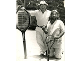 1980's Ronnie Corbett visiting Gold Coast when Giant Tennis was in vogue