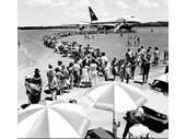 1981 Gold Coast airport greets its first Boeing 747