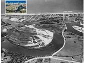 1950's Above Chevron Island (naturally not one) showing Ferry Road