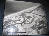 1950's Above Surfers Paradise and Nerang River before the canal estate development