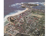 1950's Aerial view of Coolangatta
