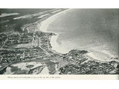 1950's Aerial view of Coolangatta and Tweed Heads looking north