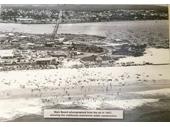 1950's Aerial view of Main Beach