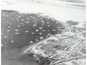 1950's Aerial view of the Spit