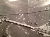 1960's Aerial view of Old and New Jubilee Bridges