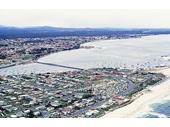 1967 Main Beach from the air