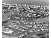 1968 Canal estates behind Surfers Paradise