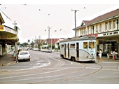 38 - A tram on Merthyr Road at New Farm