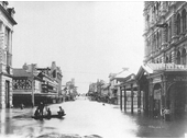 122 - Queen and Edward Sts during the 1893 Flood