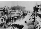 124 - Queen St during the 1893 Flood