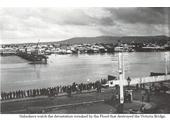 126 - Victoria Bridge during the 1893 Flood