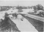 130 - Toowong Railway Station during the 1893 Flood