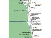 1 - Cook's Journey along South Queensland Coast