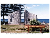 22 - Memorial of the first temporary settlement at Redcliffe