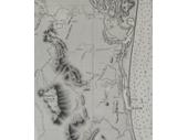 32 - Map of Stradbroke Island before breaking apart into two islands in 1898