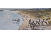 7 - Oxley meeting Aborigines at Breakfast Creek