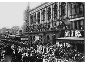 73 - An enlistment rally at Brisbane's Town Hall during World War 1