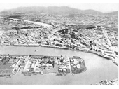 92 - Brisbane from the air in the 1930's