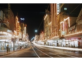 10 - Queen St at night