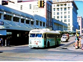 110 - Trolley Bus on corner of Albert and Adelaide Sts