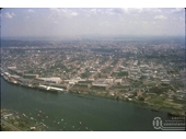 130 - Aerial view over the Newstead wharves