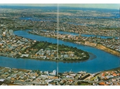 131 - Aerial view towards Story Bridge from above South Brisbane (1967)