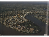 132 - Aerial view of Brisbane in 1968