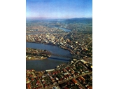 46 - Aerial view of the City above Fortitude Valley (c.1960)