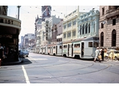 75 - Trams at corner of Queen and George Sts