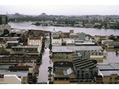 47 - The Gardens end of the CBD during the 1974 Flood