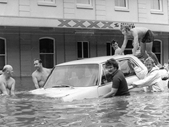 77 - Helping a stranded car during the 1974 Flood