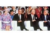 104 - The Queen, Llew Edwards, Governor-General and Bob Hawke at the Expo 88 opening