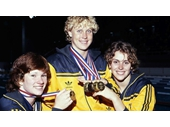 27 - Golden Girls at the 1982 Commonwealth Games - Tracey Wickham, Lisa Curry and Lisa Forrest