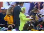 32 - The Queen at the Closing Ceremony of the 1982 Commonwealth Games
