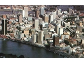 34 - Aerial photo of the CBD in the early 1980's
