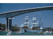 59 - Tall Ship goes under the Gateway Bridge
