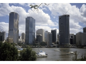 60 - City towers from Kangaroo Point just before the completion of the Riverside Centre